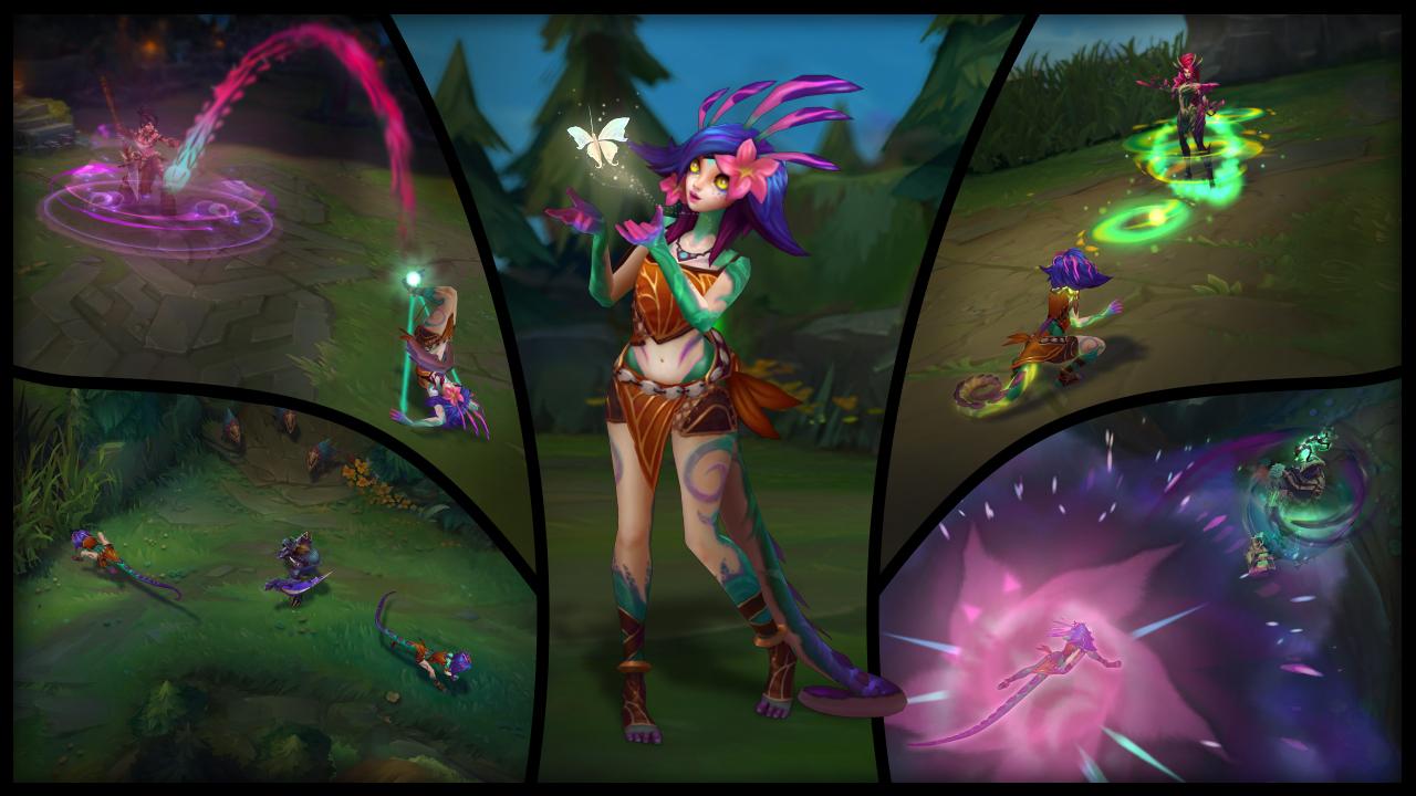 Collage de las habilidades de Neeko