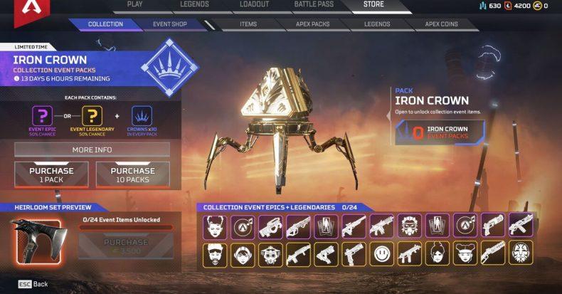 Iron Crown Apex Legends incident reddit