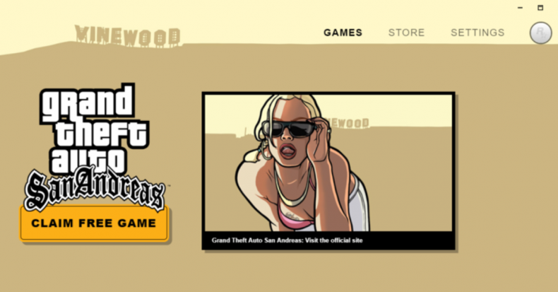 Rockstar Games Launcher GTA San Andreas