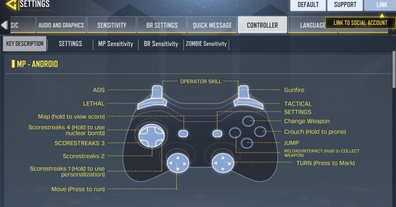 Cll of Duty: Mobile controller support