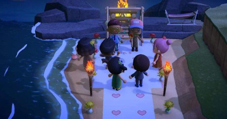 Animal Crossing wedding