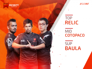 Relic, Cotopaco y Baula permanecen en Infinity Esports