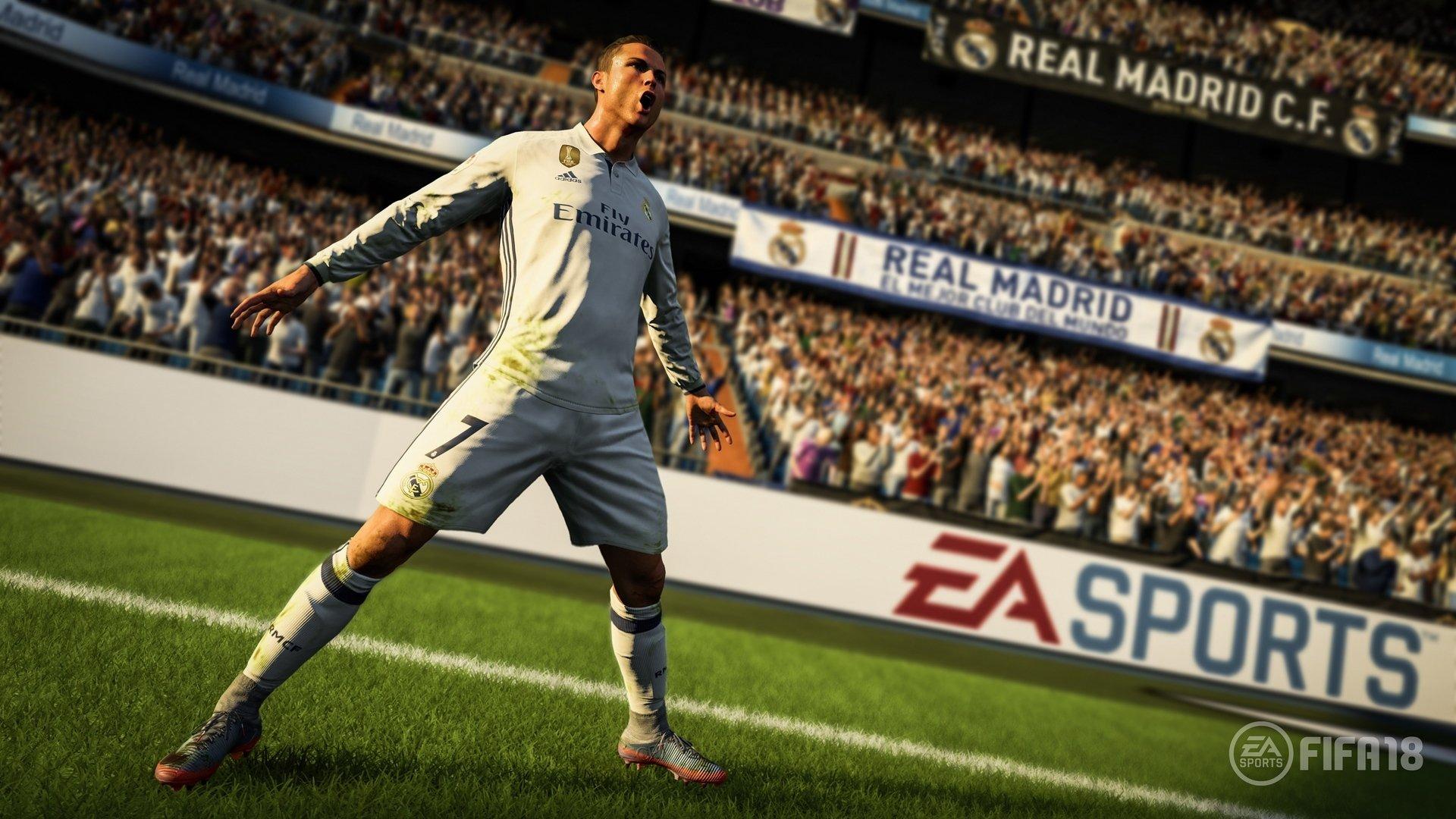 Cristiano Ronaldo también es de oro en FIFA 18