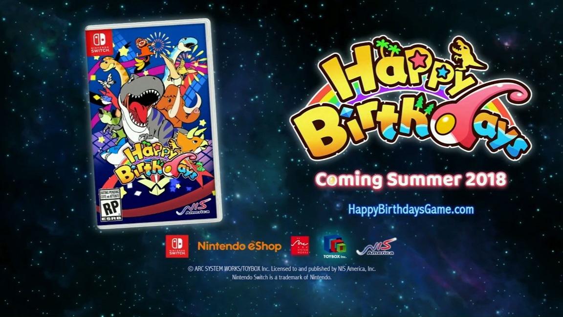 Happy Birthdays llegará a Nintendo Switch en verano de 2018