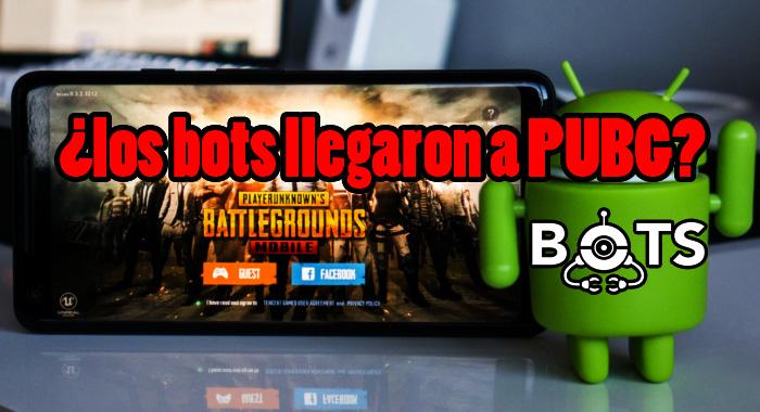 PUBG para dispositivos móviles podría estar usando bots en sus partidas.