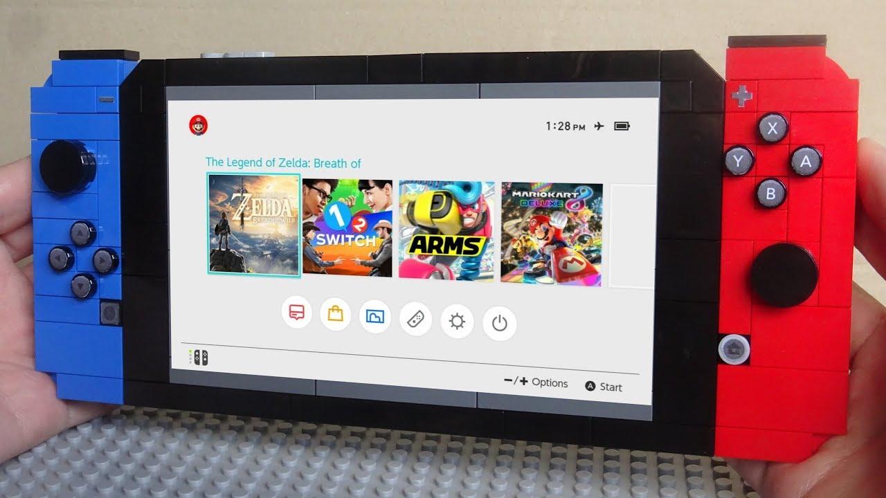 Te mostramos una impresionante Nintendo switch de Lego