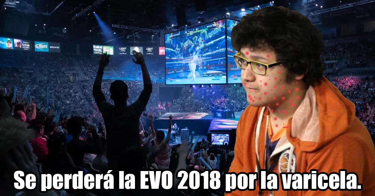 Mkleo el campeón de Smash se perderá EVO 2018 porque le dio varicela.