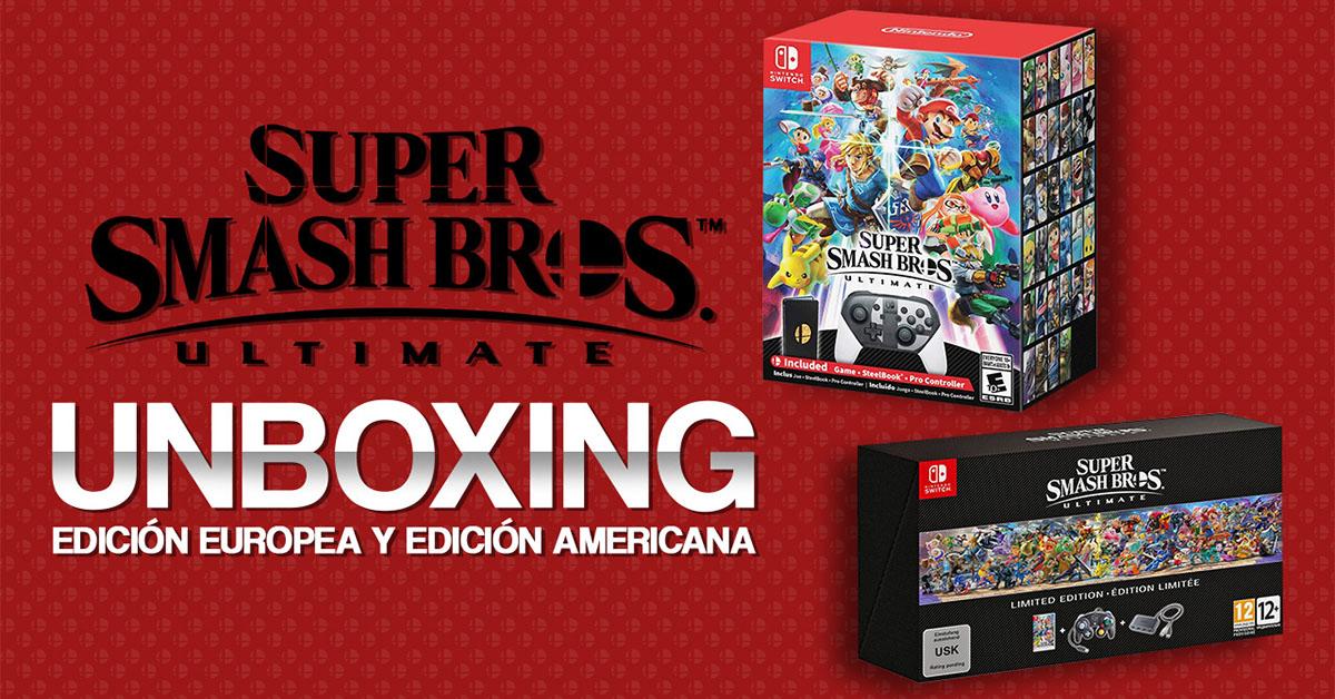 Unboxing: La edición Limitada Europea y Americana de Super Smash Bros. Ultimate.