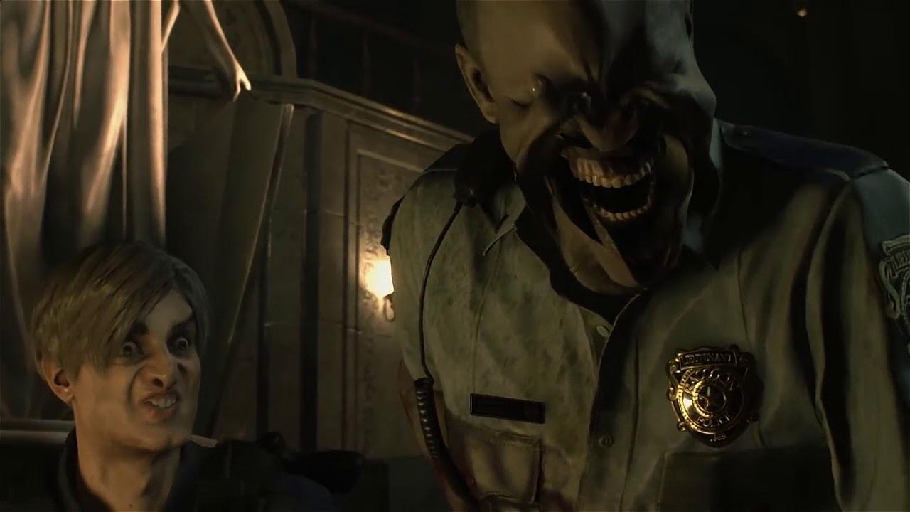 Resident Evil 2 con animación facial aumentada en un 500% es algo mórbido y perturbador.