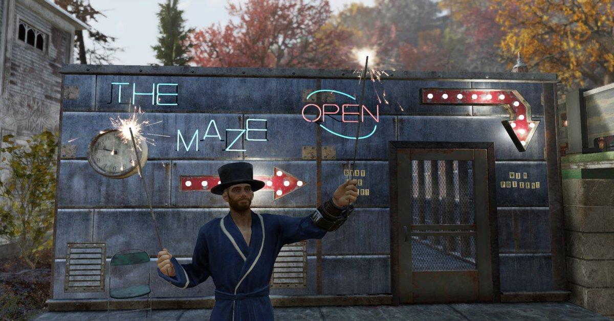 Un extraño personaje atrae a los incautos jugadores de  Fallout 76 a un laberinto mortal