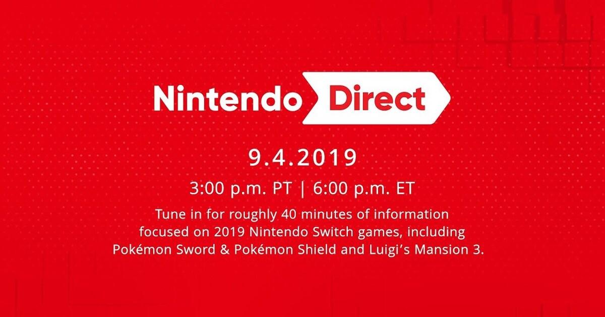 Estos son los horarios del Nintendo Direct del 4 de septiembre