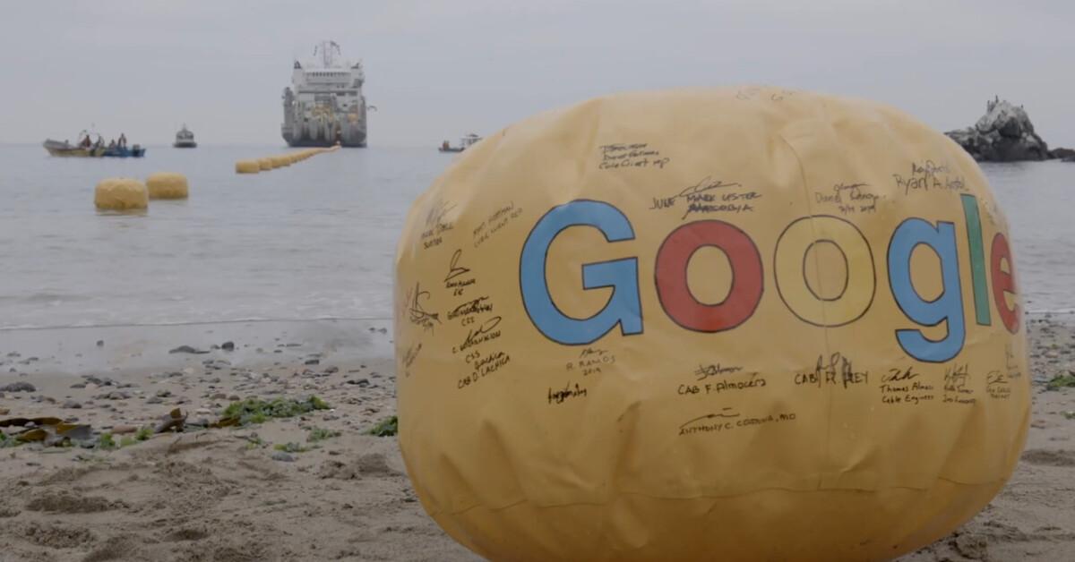 Google instala un cable submarino de Internet que permite velocidades de hasta 72 Tbps