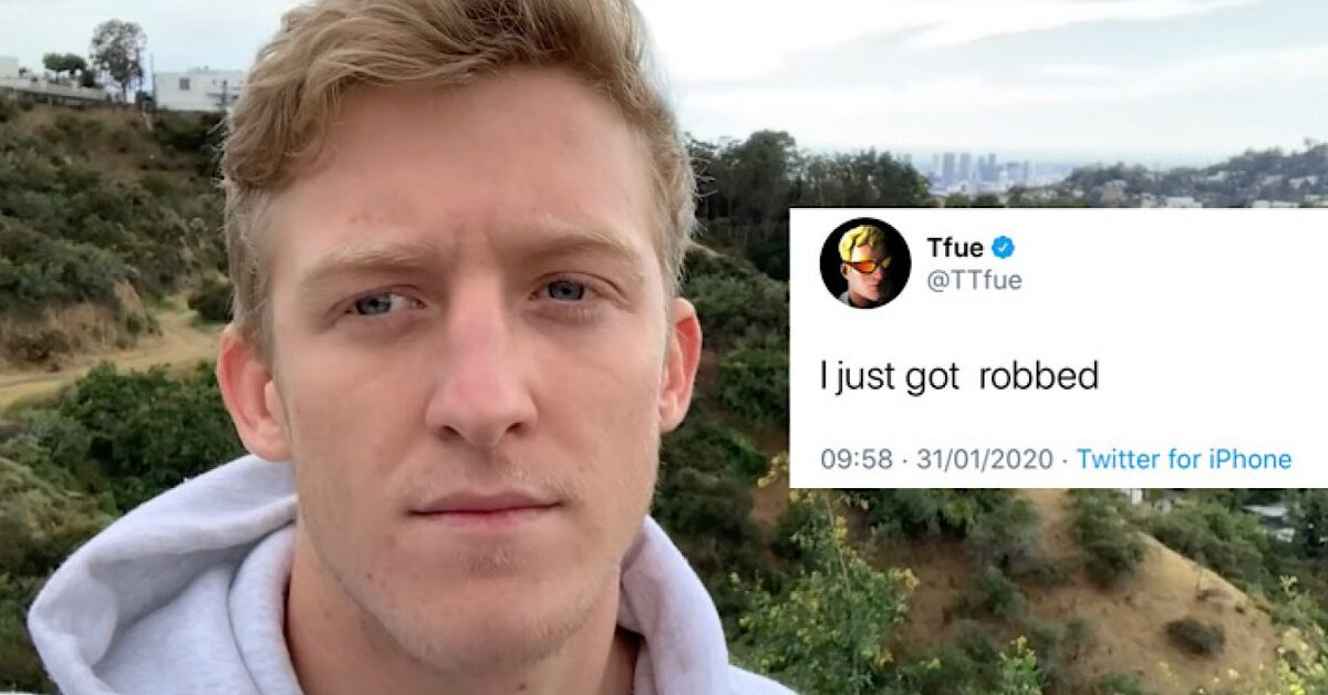 Tfue robbed $40k watch