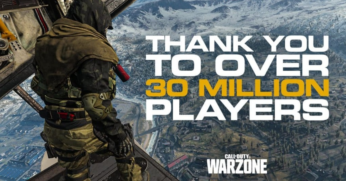 Call of Duty: Warzone 30 millions