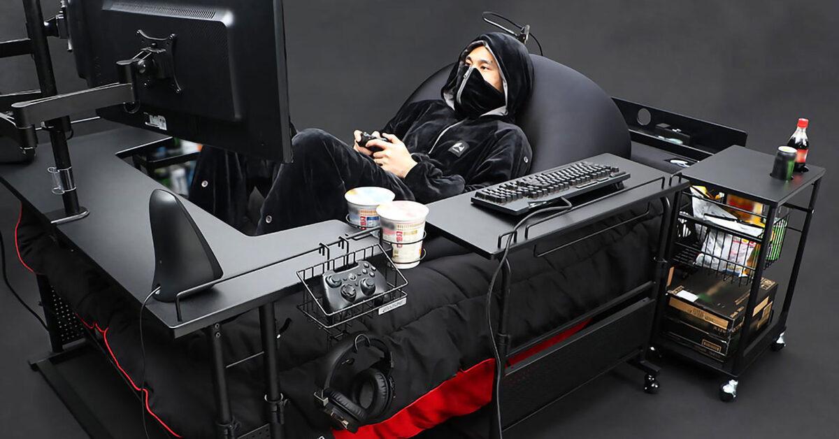 Crean en Japón la cama gamer definitiva