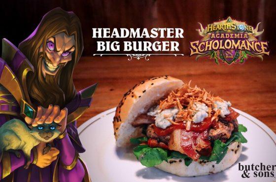 Disfruta la Headmaster Big Burger de Butcher & Sons y llévate un código de la última expansión de Hearthstone