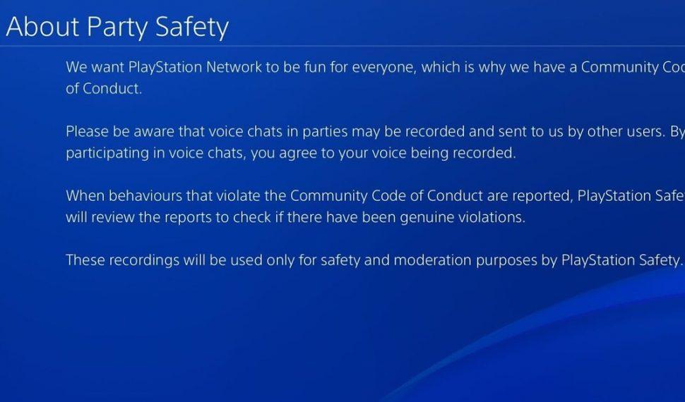 PlayStation 4 graba tus party chats a partir de la última actualización