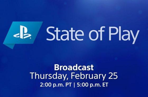 Anunciado State of Play para el 25 de febrero