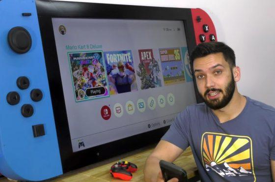 Un YouTuber crea la Nintendo Switch más grande del mundo y la dona a un hospital infantil