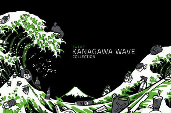 Razer presenta la línea de ropa Ola de Kanagawa, fabricada con plásticos reciclados del mar