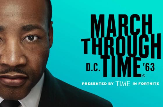 Fortnite y la revista Time honran a Martin Luther King en el modo creativo